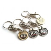 Keyring with coin and 3D sticker