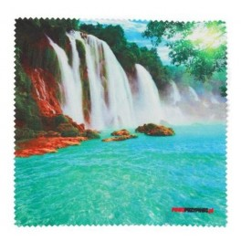 Cloth for glasses printed with waterfall 15 x 15 cm