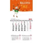Kalendarze Magnetyczne na lodówkę 12 kartek