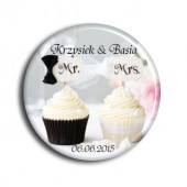 Cupcakes Wedding Magnets