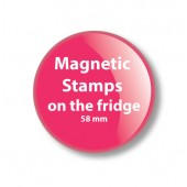 Magnetic Stamps on the fridge Your Logo